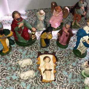 Vintage nativity scene made in Italy